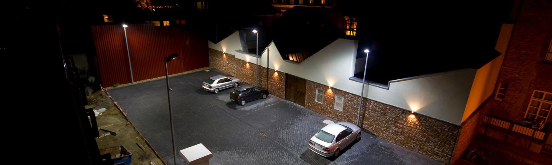 Städtischer Parkplatz